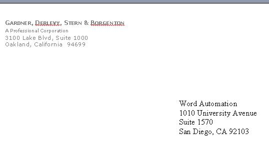 business letter example. Envelope template example: