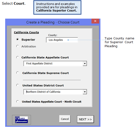 CalPleadings: California Pleading Templates for Word | Word Automation